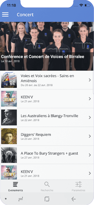 Capture amienscope liste concerts